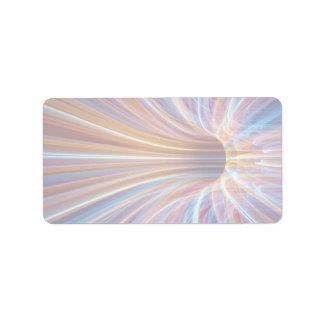 Fiber optic streak tunnel address label