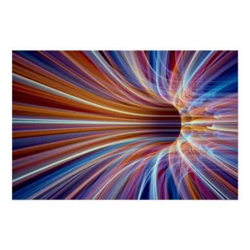 Fiber optic streak tunnel poster