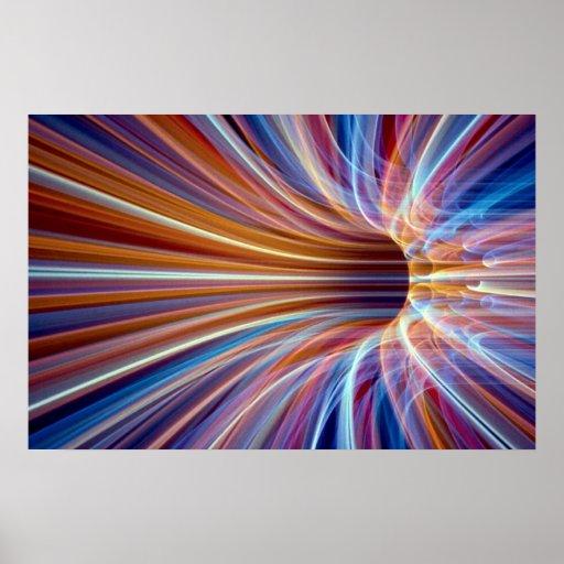 Fiber optic streak tunnel print