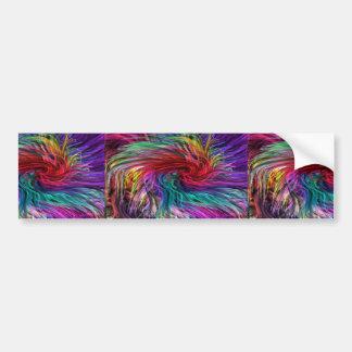 FIBER Threads Spaghetti - Sparkle Graphic Art Bumper Stickers