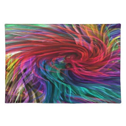 FIBER Threads Spaghetti -  Sparkle Graphic Art Place Mats
