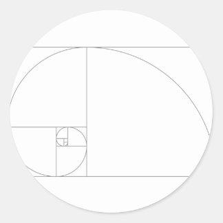 Fibonacci_Blocks Classic Round Sticker