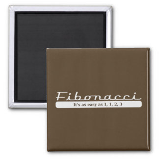 Fibonacci… Es tan fácil como 1, 1, 2, 3 Imán Cuadrado