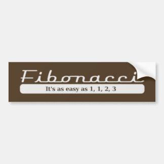 Fibonacci… Es tan fácil como 1, 1, 2, 3 Pegatina Para Auto