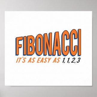 Fibonacci es tan fácil como 1, 1, 2, 3 póster