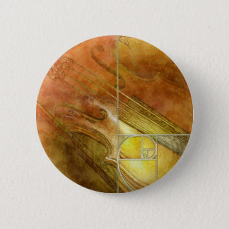 Fibonacci Fiddle Pinback Button
