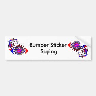 Fibonacci 'Fish Checker' Bumper Sticker