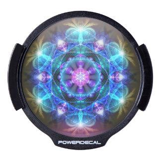 Fibonacci Flower Mandala LED Window Decal