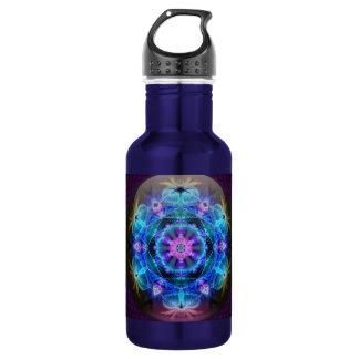 Fibonacci Flower Mandala Water Bottle