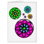 Fibonacci Flower Power Greeting Cards