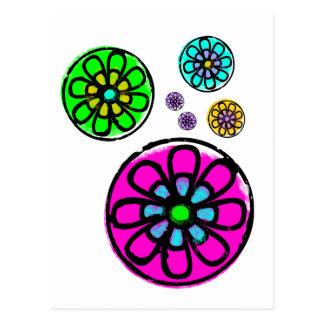 Fibonacci Flower Power Postcard