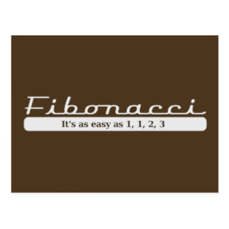 fibonacci It s as easy as 1 1 2 3 Post Cards