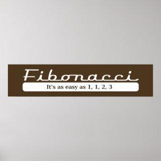 Fibonacci It s as easy as 1 1 2 3 - Poster