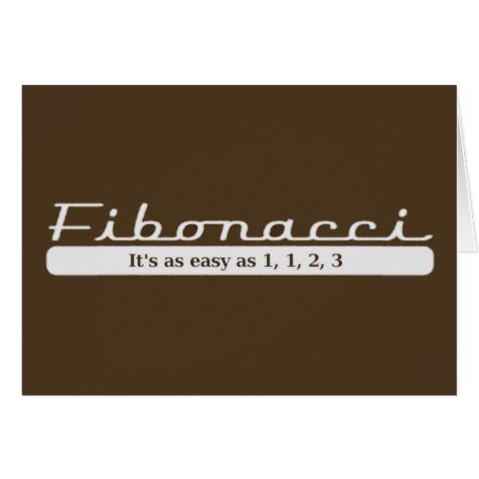 fibonacci... It's as easy as 1, 1, 2, 3 Card