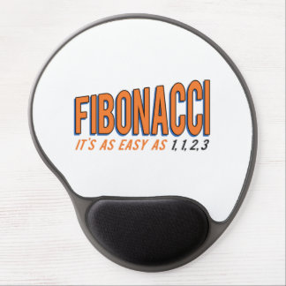 Fibonacci It's as Easy as 1, 1, 2, 3 Gel Mouse Pad
