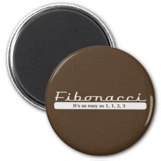 fibonacci... It's as easy as 1, 1, 2, 3 Fridge Magnets