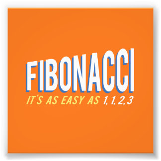 Fibonacci It's as Easy as 1, 1, 2, 3 Photo Print
