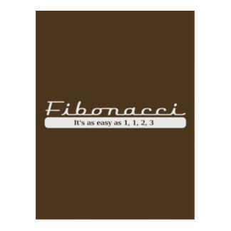 fibonacci... It's as easy as 1, 1, 2, 3 Postcard
