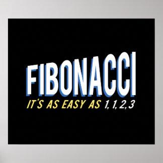 Fibonacci It's as Easy as 1, 1, 2, 3 Poster