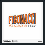"""Fibonacci It&#39;s as Easy as 1, 1, 2, 3 Wall Sticker<br><div class=""""desc"""">Fibonacci,  it&#39;s as easy as one,  one,  two,  three!  Try it today!  You&#39;ll love the sequence of it!  Great for math geeks and nerds,  and fans of the Fibonaci spiral!</div>"""