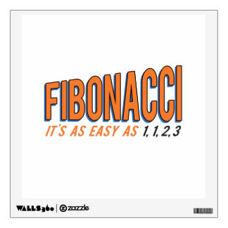 Fibonacci It's as Easy as 1, 1, 2, 3 Wall Sticker