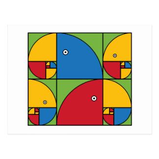 Fibonacci Parrots Postcard