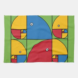 Fibonacci Parrots Towel