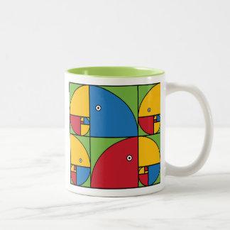 Fibonacci Parrots Two-Tone Coffee Mug