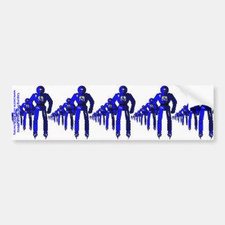 Fibonacci Robots Bumper Sticker