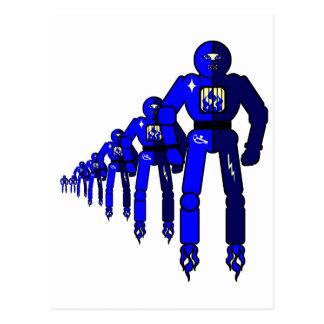 Fibonacci Robots Postcard