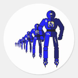 Fibonacci Robots Sticker