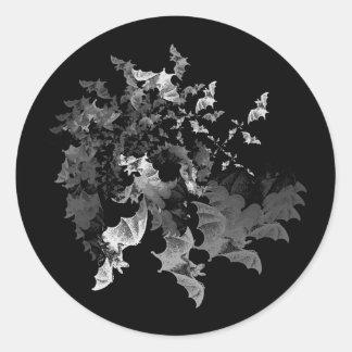 Fibonacci s Bats Round Stickers