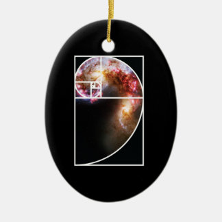 Fibonacci Spiral Galaxy Ceramic Ornament