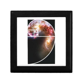 Fibonacci Spiral Galaxy Trinket Box