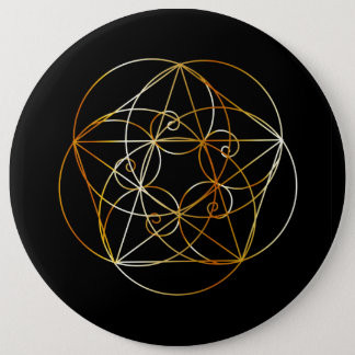 Fibonacci Spiral- The sacred geometry Pinback Button