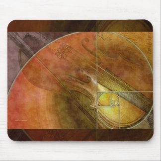 Fibonacci Violin Abstract 2 Mouse Pads
