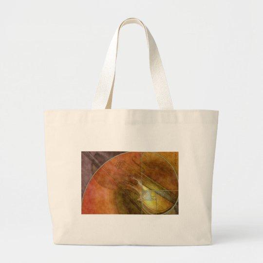 Fibonacci Violin Large Tote Bag