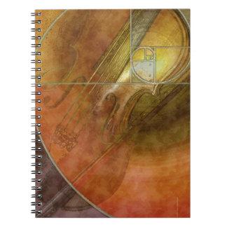 Fibonacci Violin Spiral Notebook