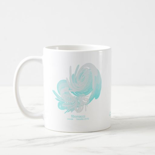 Fibonacci Waves Classic White Coffee Mug