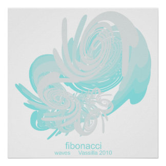 Fibonacci Waves Huge Poster