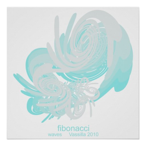 Fibonacci Waves Huge Poster