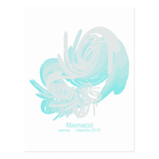 Fibonacci Waves Postcard