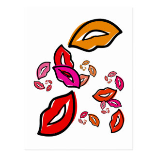 Fibonacci's Lips Postcard