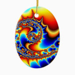 Fibonaccispikeral Ceramic Ornament