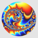 Fibonaccispikeral Classic Round Sticker
