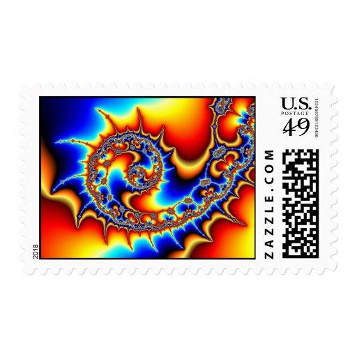 Fibonaccispikeral Postage Stamp