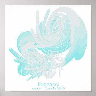 Fibonnaci Waves Small Poster