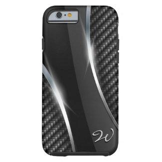 Fibra de carbono 3 funda de iPhone 6 tough