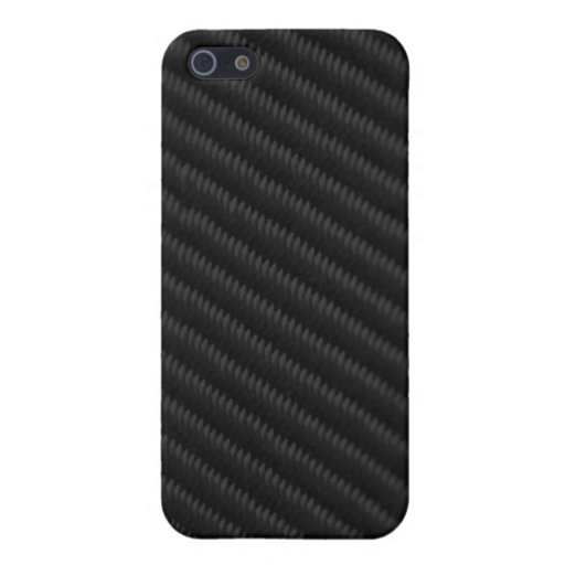 Fibra de carbono acentuada iPhone 5 funda