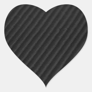 Fibra de carbono acentuada colcomanias corazon